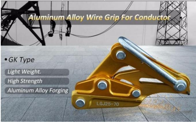 Aluminum Alloy Electrical Cable Pulling Tools , 48 Mm Self Gripping Clamps