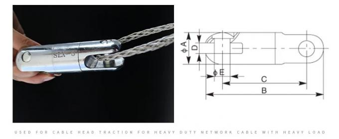 SLX Model Galvanized Line Pulling Swivels , Swivel Steel Cable Connectors