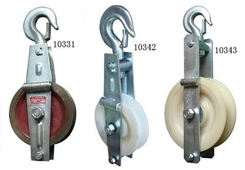 China SHT Grounding Wire Stringing Block / 20KN Cast Steel Sheave Stringing Block supplier