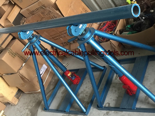 China 200kn Rated Load Wire Reel Jack Stands Hydraulic Colume Type For Wire Releasing supplier