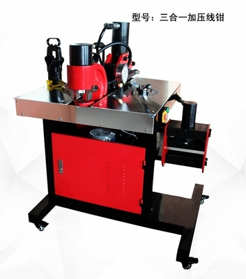 China Multi Function Hydraulic Crimping Tool / Hydraulic Busbar Cutting Punching Bending Machine supplier