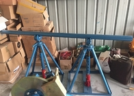China Line Construction Wire Reel Stands , Ton Adjustable Cable Jack Stands factory