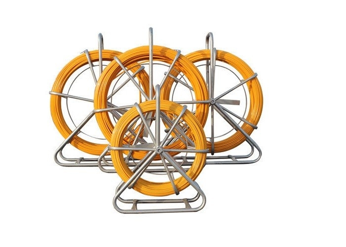 Metal Frame Flexible Cable Duct Rodder Plastic Layer With Rubber Wheels