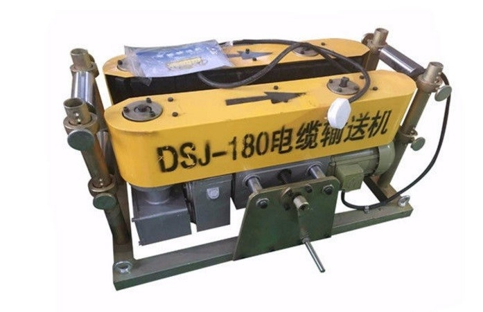 Yellow / Red Electrical Cable Pulling Tools DSJ Serise Crawler Cable Conveyor