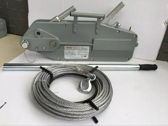 Tirfor Steel Wire Rope Hand Winch Hoist Wire Rope Hoist