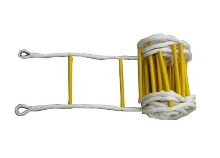 Telescopic Insulation Safety Rope Ladder , Anti Slip Soft Rescue Rope Ladder