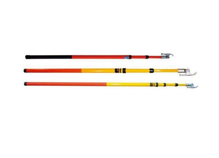 500KV Voltage 7.5M Electrical Hot Stick Insulation Telescopic Fiberglass