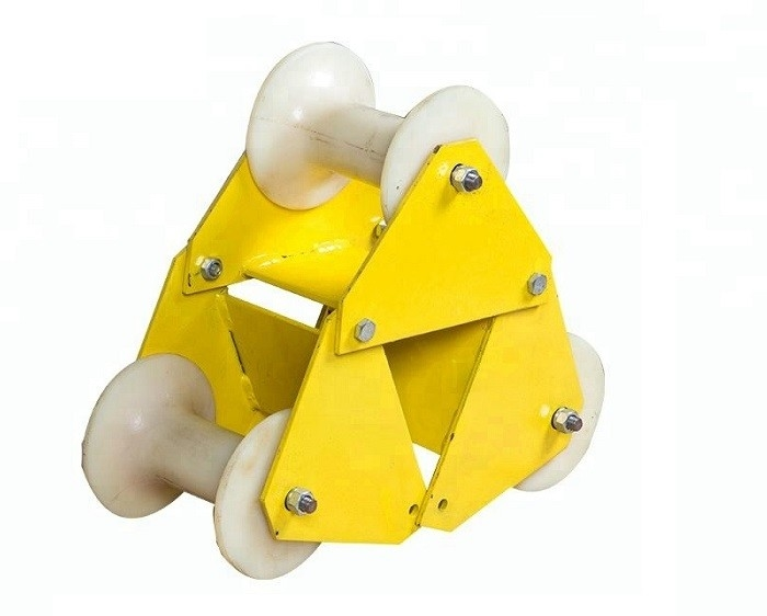 Electrical Power Three Wheel Cable Roller Guide Roller With Nylon Wheel