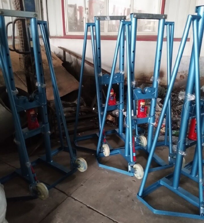 Spindle Bar Hydraulic High Lift Jack Stands 10T For Carrying Cable Reel