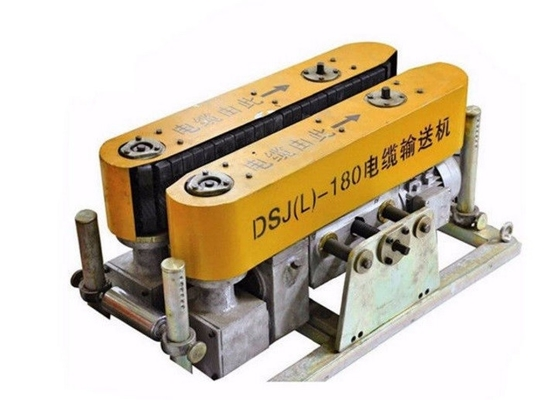 Easy Fast Using Underground Cable Pusher Machine , Low Noise Cable Hauling Machine