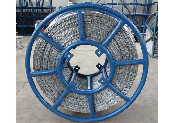 Hexagon Galvanized Cable Pulling Device Wire Rope Anti Twisted With 6 Squares
