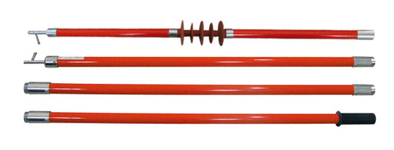 Operating Rod Stick Construction Safety Tools , 4 Sections Telescoping Hot Stick