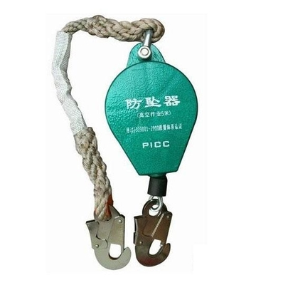 Line Construction Fall Arrest Lanyard High Capacity Wire Rope Falling Protector