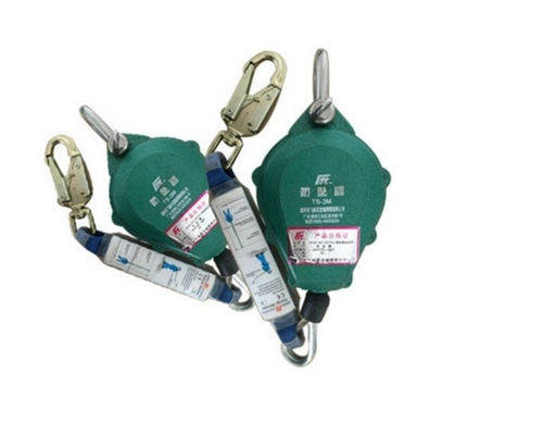 China Hoist Safety Harness Lanyard , Safety Falling Protector Shock Absorbing Lanyard factory